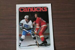Vancouver Canucks Hockey Program -- Feb 7, 1978 vs Flames