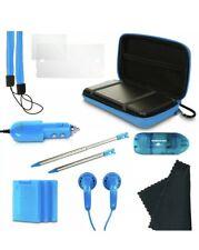 Nintendo 3DS 13 in 1 Gamer Pack Starter Kit - Blue Stylus, Ear Buds, Charger, +