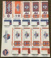 2015 MLB NEW YORK METS POSTSEASON NLDS NLCS FULL UNUSED BASEBALL TICKETS SHEET