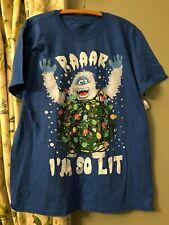 Men's Bumble T Shirt New Abominable Snowman Rudolph's Friend Christmas So Lit L