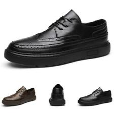 Mens Leisure Leather Shoes Brogue Wing Tip Business Work Oxfords Lace up Party