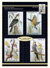 Country Threads Cross Stitch MINI AUSSIE BIRDS Pattern New X Stitch FJP-001-0...