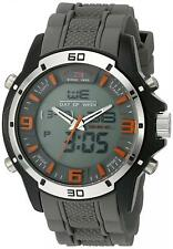 U.S. Polo Assn. Sport Men's Quartz Metal Rubber Casual Timer Watch Grey US9536