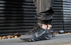 Nike React Element 55 Triple Black Grey Running Shoes BQ6166-008 Multi Sizes