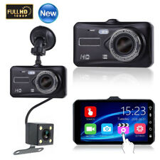 NEW 4inch 1080P Car DVR Dual Lens Dash Cam Video Camera Recorder Night Vision UK