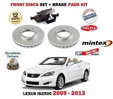 für Lexus IS250c 2.5 Cabrio 2009-2013 Vorderbremse Scheibensatz + Bremsbelagsatz