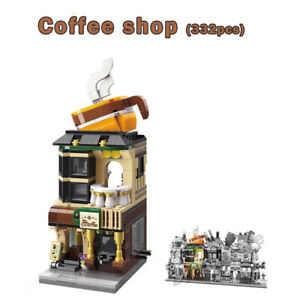 New Mini Street Coffee Shop Building Blocks Bricks 332pcs DIY Toy City Corner