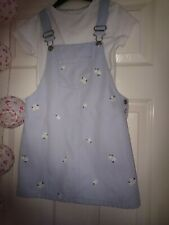 F + F Denim Daisy dungaree Dress 6-7 Years