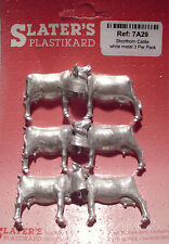 Slaters 7A29 - 7mm - White Metal Shorthorn Cattle Un-Painted Kit New UK 1st Post