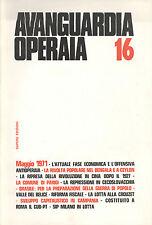 Avanguardia Operaia n° 16  Maggio 1971