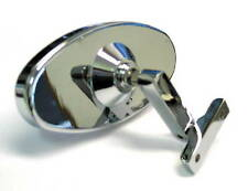 """Chrome 5"""" Oval Rear View Mirror -  Bolt on - Universal Street Hot Rod Ford Chevy"""