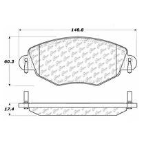 Centric Parts 104.09100 Front Super Premium Semi Metallic Brake Pads