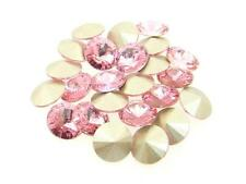 Swarovski Foiled Rivoli Stones Art.1122 8.5mm 39ss Light Rose 24 Pieces cc