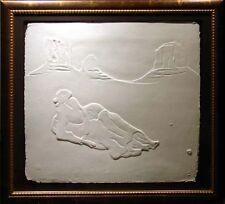 R.C.Gorman Crescent Moon /paper cast Hand Signed Original Art LE MAKE OFFER