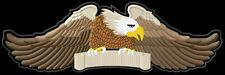 Eagle 3 colours your text xl text desire patch embroidered iron - on patch