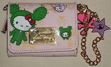 TOKIDOKI x Hello Kitty Sandy Bi-fold Pink Wallet w/Accessories Sanrio 2008 NWOT