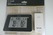 Taylor Wireless Indoor Outdoor Weather Station with 2 AA & 2 AAA Batteries