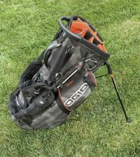 Ogio Grom Golf Stand Bag Black And Orange With 14 Dividers & Rain Cover