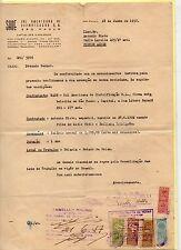 Brasil Sellos Fiscales En Contrato Laboral del año 1957 (DC-763)