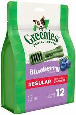 New listing 4 X 12 oz.bags Greenies Dog Treats Blueberry Regular sz. 48 Treats Total!