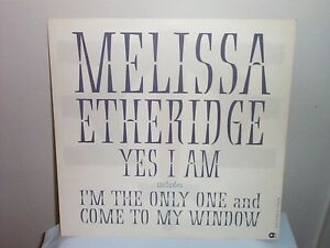 1993 MELISSA ETHERIDGE Yes I am PROMO POSTER Mint Cond. b/w Come to my window