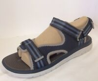 Clarks Cloudsteppers Balta Sky Navy Blue Men's Open Toe Sandals Size 11 M NEW