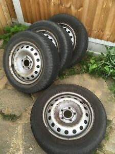 Vauxhall Vivaro Renault Trafic Nissan Primastar Set Of 5 Steel Wheels And Tyres