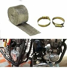 Silencer Wrap Bike Exhaust Heat Shield LENGTH-3m For Royal Enfield Bullet brown