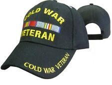 Cold War Veteran Vetrans Ribbon 3d Embroidered Baseball Cap Hat (Licensed)