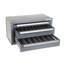 Huot 13350 Three Drawer End Mill Dispenser Cabinet For Fractional Sizes 18