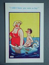 R&L Postcard: Brook Publishing Trow 11971 Large Breast Woman, Small Man Eel Fish