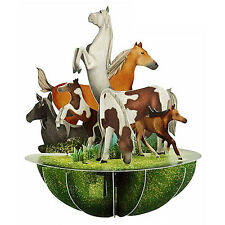 Santoro 3D Pirouettes Greeting Card - HORSES & PONIES - #SG-PO-046