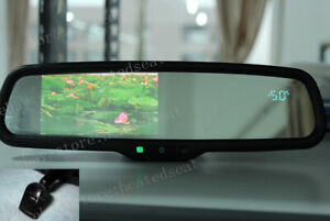"Rearview mirror+4.3"" backup display+compass+temperature, fit some Honda"