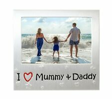 "I Love Mummy & Daddy Photo Picture Frame Gift - 5"" x 3.5"""