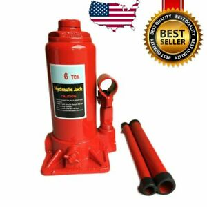 6 Ton Hydraulic Bottle Jack 12000lb Lift HEAVY DUTY Automotive New FREE SHIPPING