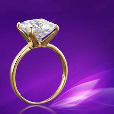 EG _ Damen groß Klar Zirkonia 18K vergoldet Finger Ring Hochzeit Bague Schmuck