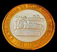 .999 $10 Silver Strike •Westward Ho Casino • Las Vegas • Ho-Waiian