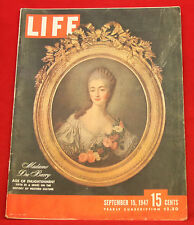 Life Magazine September 15, 1947, Vintage Ads Ritz Crackers, Very Good Cond.