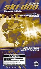 Ski-Doo owners manual book 2004 SUMMIT X / H.M. X / ADRENALINE / SPORT 800 HO R
