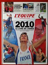 L'EQUIPE LE LIVRE DE L'ANNEE 2010 UN AN DE SPORT TOUTE LA SAISON