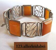 Original Fischland Butterscotch Bernstein Armband 835 er Silber / AP 673