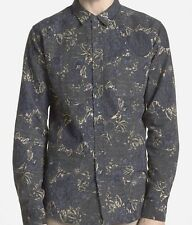 EZEKIEL Men's WALLFLOWER L/S Button-Up Shirt - BLK - Medium - NWT