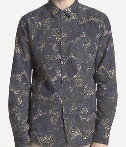 EZEKIEL Men's WALLFLOWER L/S Button-Up Shirt - BLK - Medium - NWT