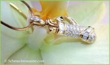 Reinheit VS Echte Diamanten-Anhänger aus Gelbgold mit Brilliantschliff