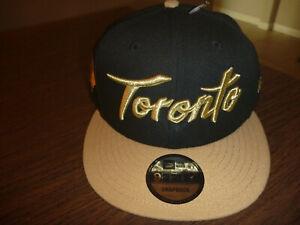 TORONTO RAPTORS NEW ERA 9FIFTY 2019/20 CITY EDITION ON COURT BLACK SNAPBACK HAT