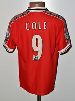 MANCHESTER UNITED 1998/1999 HOME FOOTBALL SHIRT JERSEY UMBRO COLE #9