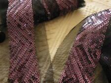 lage galon sequin tulle noir vendu au mertre perlé 7 cm