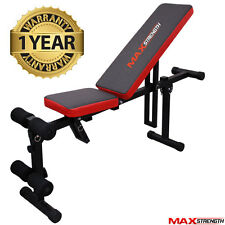 MAXSTRENGTH Adjustable Fly Incline Decline Bench Abs Weight lifting Exercise Ab