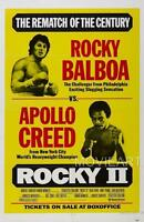 ROCKY II 2 CREED VINTAGE MOVIE POSTER FILM A4 A3 ART PRINT CINEMA