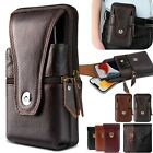 Men Cell Phone Pouch Belt Waist Bag PU Leather Loop Holster Case Wallet Cover